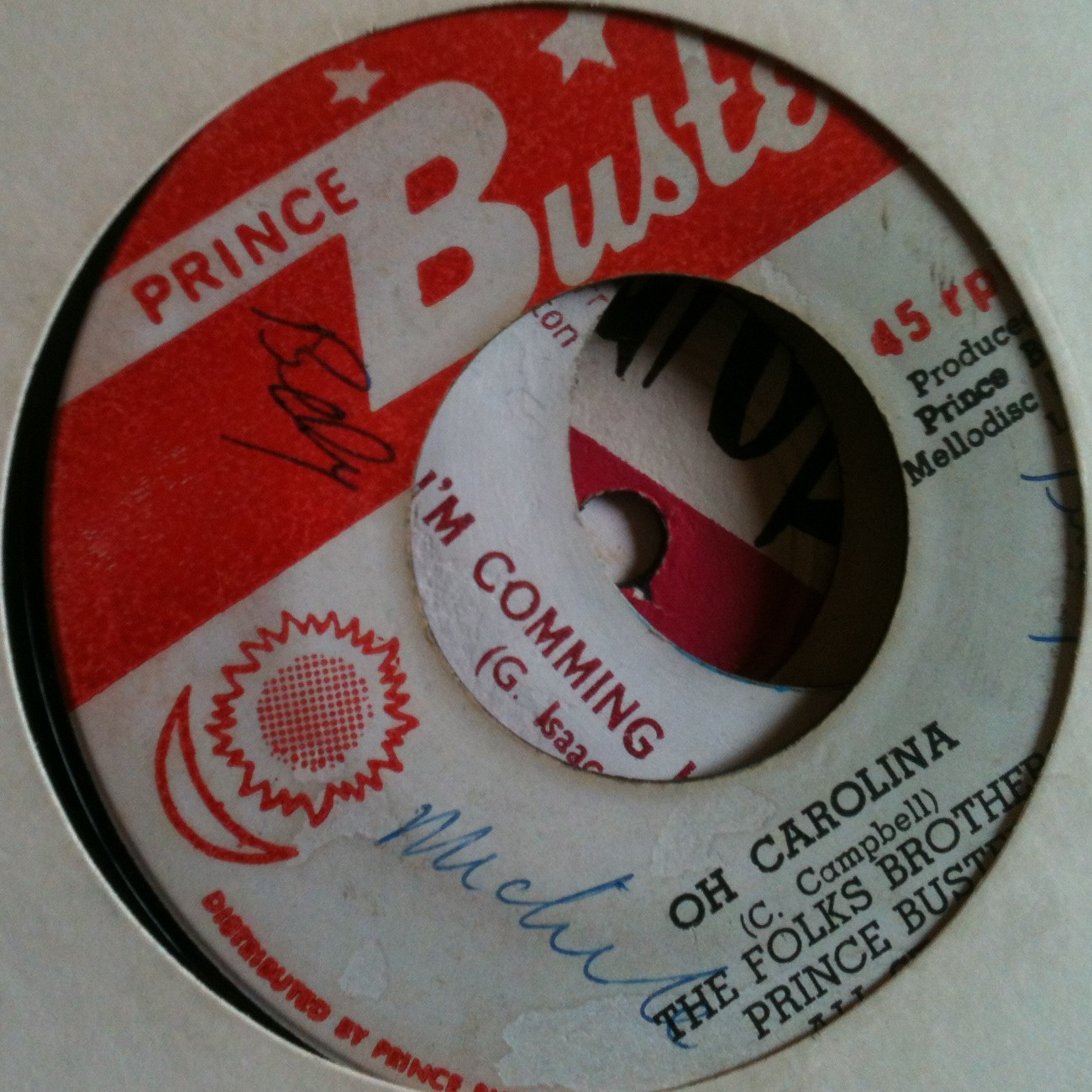 Nothing but good old original records. Some crackle, yes, but ehi, they are really OLD! Enjoy. DOWNLOAD THE PODCAST (right click to save) Folk Brothers – Oh Carolina PRINCE BUSTER...